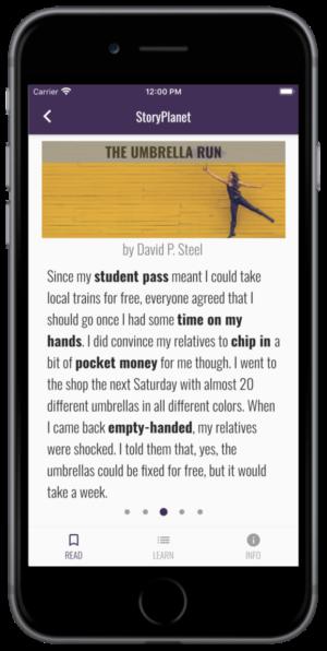 App StoryPlanet English Geschichten lesen