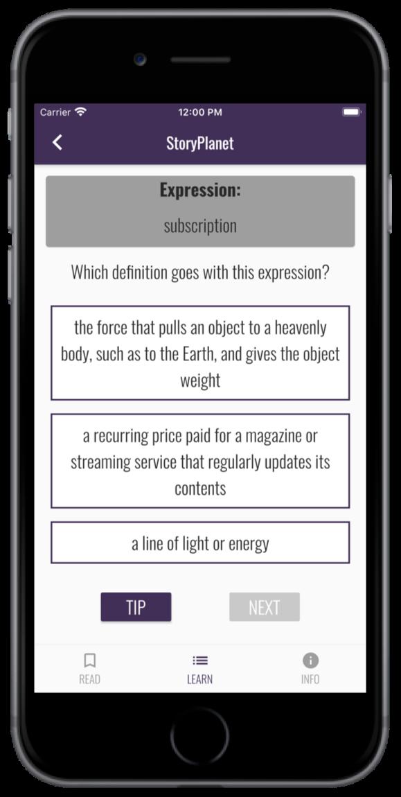 App StoryPlanet English Gezielte Übungen machen